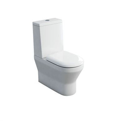 Picture of Britton Curve S30 close-coupled WC (back to wall) with standard lid cistern & soft - close seat