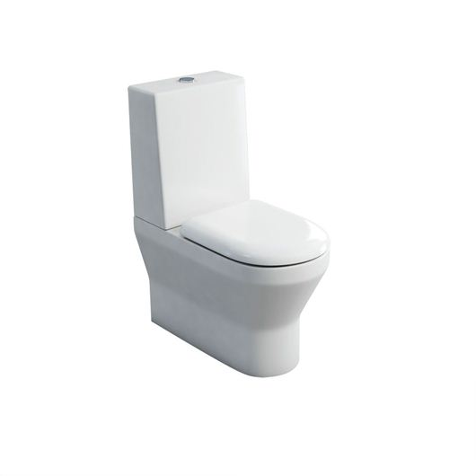 Picture of Britton Curve S30 close-coupled WC (back to wall) with one piece cistern & soft close seat