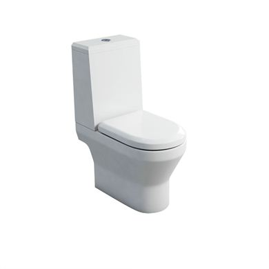 Picture of Britton Curve S30 close-coupled WC (pan open-back) with angled lid cistern & soft close seat