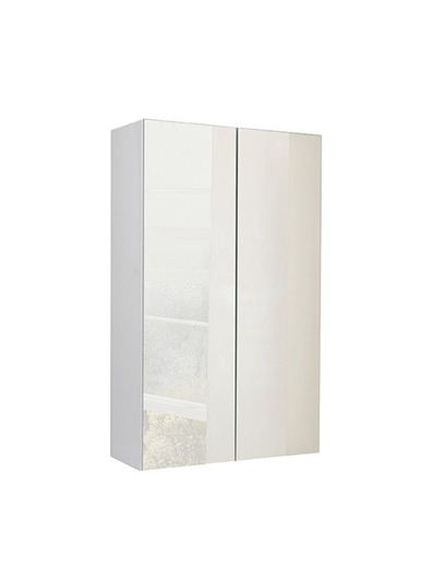 Picture of Calypso Verona 500 Mirrored Wall Cupboard - High Gloss White