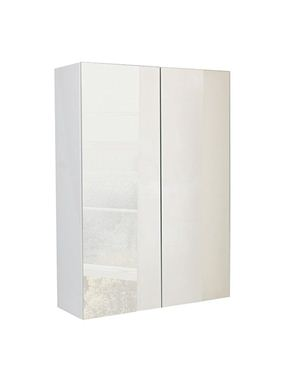 Picture of Calypso Verona 600 Mirrored Wall Cupboard - High Gloss White