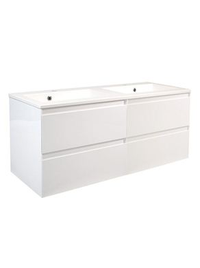 Picture of Calypso Verona 1200 Wall Hung Vanity with 1200 Vada Basin - High Gloss White