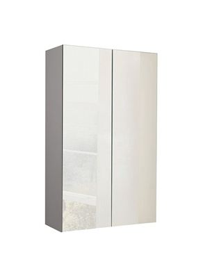 Picture of Calypso Verona 500 Mirrored Wall Cupboard - Latte Gloss