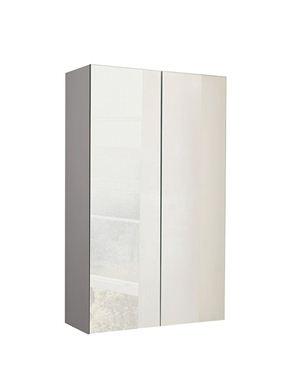 Picture of Calypso Verona 500 Mirrored Wall Cupboard - Latte Gloss