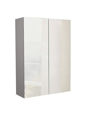 Picture of Calypso Verona 600 Mirrored Wall Cupboard - Latte Gloss