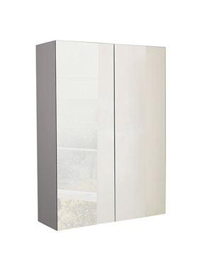 Picture of Calypso Verona 600 Mirrored Wall Cupboard - Latte Gloss