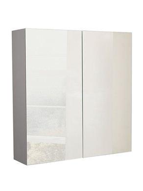 Picture of Calypso Verona 800 Mirrored Wall Cupboard - Latte Gloss