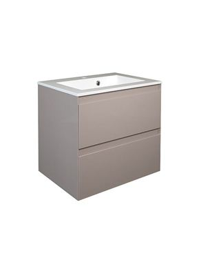 Picture of Calypso Verona 500 Wall Hung Vanity with 500 Vada Basin - Latte Gloss