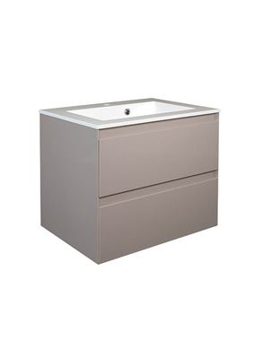 Picture of Calypso Verona 600 Wall Hung Vanity with 600 Vada Basin - Latte Gloss
