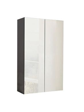 Picture of Calypso Verona 500 Mirrored Wall Cupboard - Anthracite Gloss