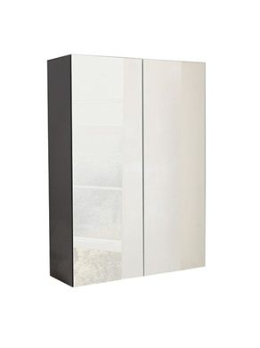 Picture of Calypso Verona 600 Mirrored Wall Cupboard - Anthracite Gloss