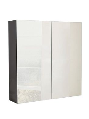 Picture of Calypso Verona 800 Mirrored Wall Cupboard - Anthracite Gloss