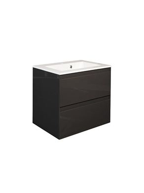 Picture of Calypso Verona 500 Wall Hung Vanity with 500 Vada Basin - Anthracite Gloss