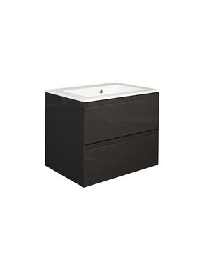 Picture of Calypso Verona 600 Wall Hung Vanity with 600 Vada Basin - Anthracite Gloss