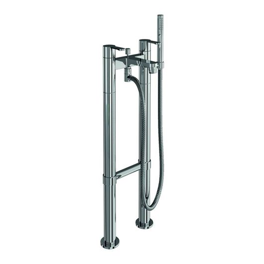 Picture of Britton Crystal Bath shower mixer on stand pipes