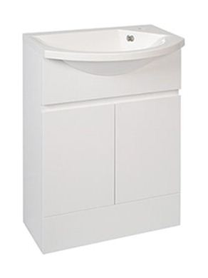 Picture of Calypso Liana Slimline 500 Vanity Unit with ART500 Slimline Cast Basin - High Gloss White