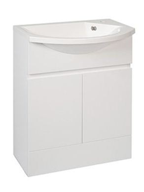 Picture of Calypso Liana Slimline 600 Vanity Unit with ART600 Slimline Basin - High Gloss White