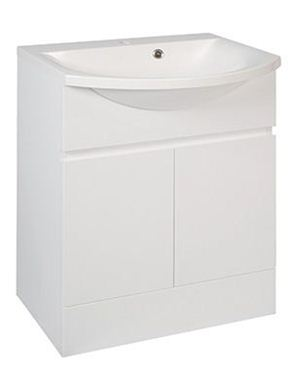 Picture of Calypso Liana 600 Vanity Unit with ART600 Basin - High Gloss White