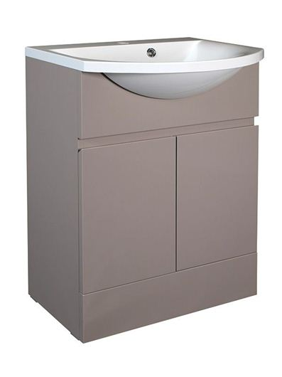 Picture of Calypso Liana 600 Vanity Unit with ART600 Basin - Latte Gloss