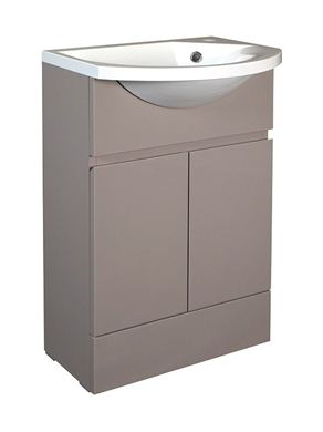 Picture of Calypso Liana Slimline 500 Vanity Unit with ART500 Slimline Cast Basin - Latte Gloss
