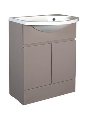 Picture of Calypso Liana Slimline 600 Vanity Unit with ART600 Slimline Basin - Latte Gloss