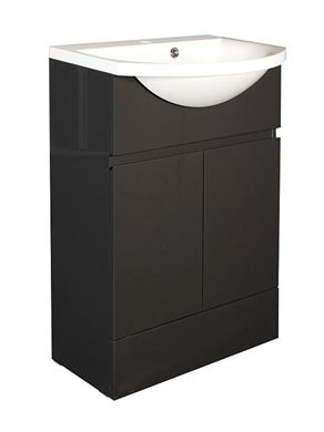 Picture of Calypso Liana 500 Vanity Unit with ART500 Basin - Anthracite Gloss