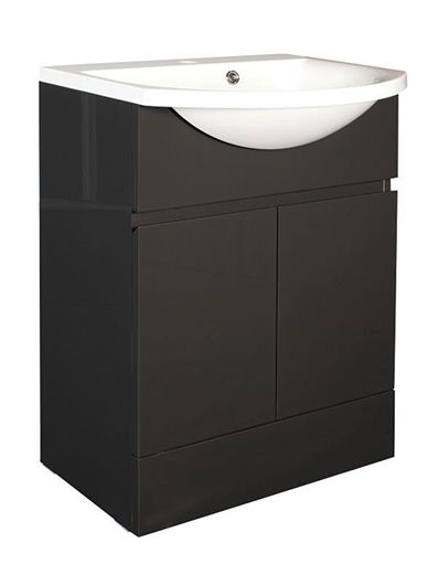 Picture of Calypso Liana 600 Vanity Unit with ART600 Basin - Anthracite Gloss