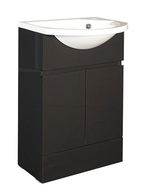 Picture of Calypso Liana Slimline 500 Vanity Unit with ART500 Slimline Cast Basin - Anthracite Gloss