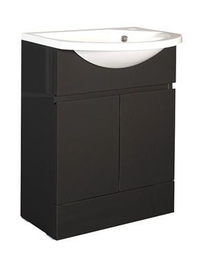 Picture of Calypso Liana Slimline 600 Vanity Unit with ART600 Slimline Basin - Anthracite Gloss