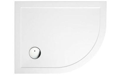Picture of Zamori Offset Quadrant Shower Tray 900x760mm Right Hand