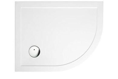 Picture of Zamori Offset Quadrant Shower Tray 900x800mm Right Hand