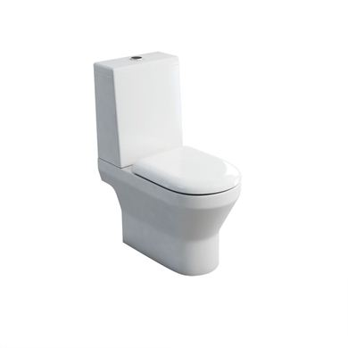 Picture of Britton Curve S30 Close-Coupled WC (Pan Open-back) with Standard Lid Cistern & Soft Close Seat