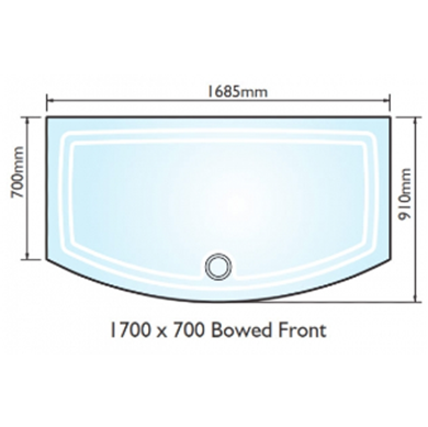 Picture of Kudos Concept 2 1700x700 Bow Fronted Shower Tray