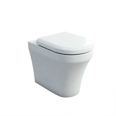 Picture of Britton Fine Back to Wall Pan with Soft Close Seat