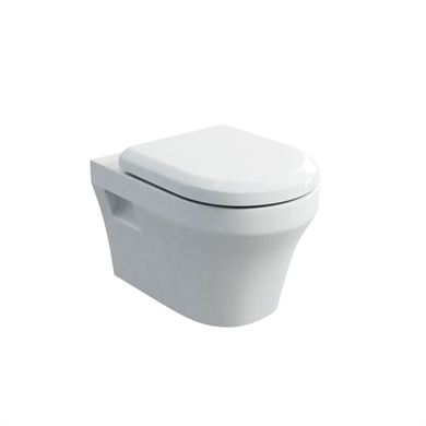Picture of Britton Fine S40 Wall Hung Pan with Soft Close Angled Seat