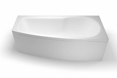 Picture of Cleargreen EcoCurve 1700mm Shower Bath - Right Hand