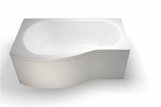 Picture of Cleargreen EcoRound 1500mm Shower Bath - Left Hand