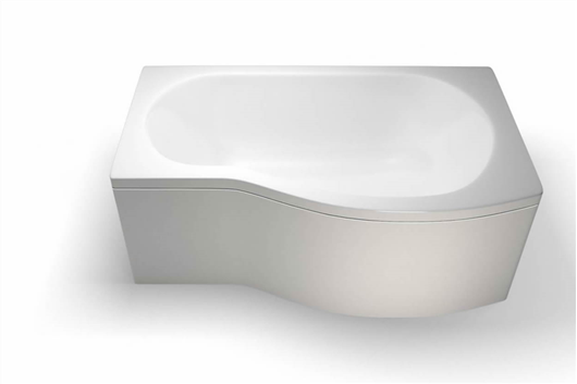 Picture of Cleargreen EcoRound 1500mm Shower Bath - Right Hand