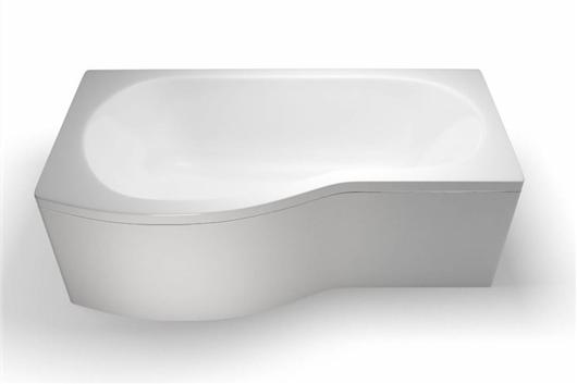 Picture of Cleargreen EcoRound 1700mm Shower Bath - Left Hand