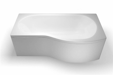 Picture of Cleargreen EcoRound 1700mm Shower Bath - Right Hand