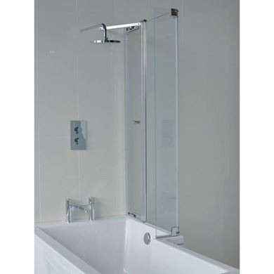 Picture of Cleargreen EcoSquare 1450mm Bathscreen with Access Panel RH
