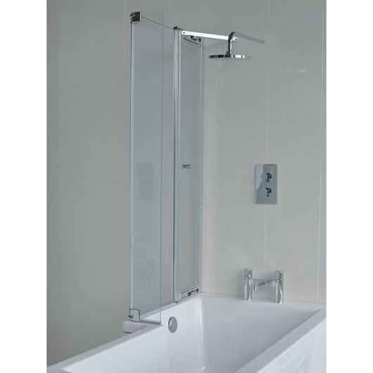 Picture of Cleargreen EcoSquare 1450mm Bathscreen with Access Panel LH