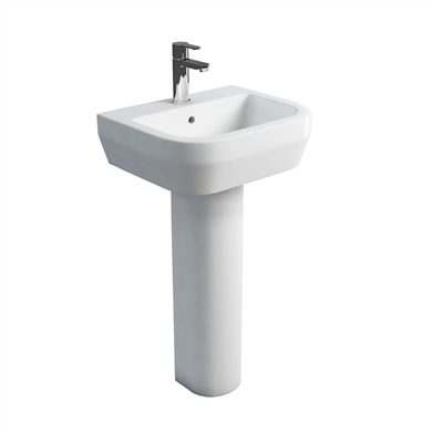 Picture of Britton Curve 500mm Basin & Tall Pedestal
