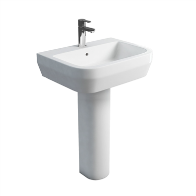 Picture of Britton Curve 60cm Basin & Tall Pedesral