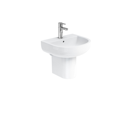 Picture of Britton Compact 450mm Basin & Round Fronted Semi Pedestal