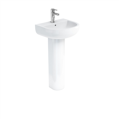 Picture of Britton Compact 45cm Basin & Standard Pedestal