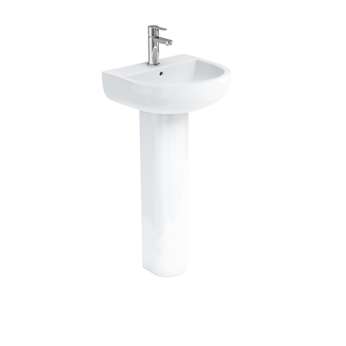 Picture of Britton Compact 45cm Basin & Tall Pedestal