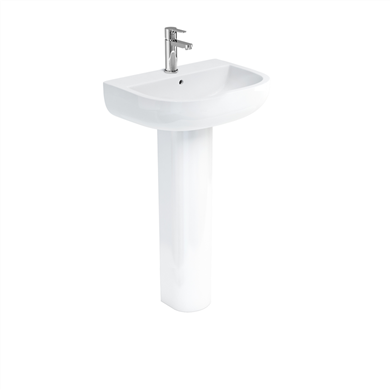 Picture of Britton Compact 55cm Basin & Tall Pedestal