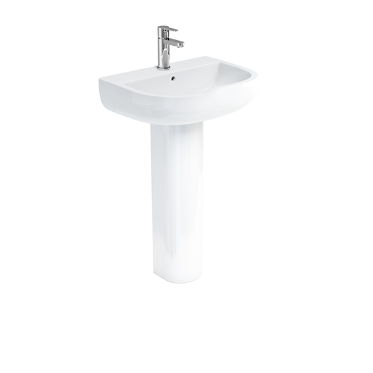 Picture of Britton Compact 55cm Basin & Standard Pedestal