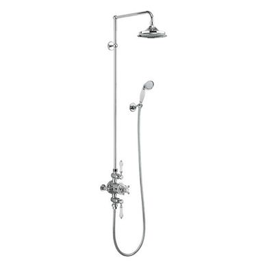 "Picture of Burlington Avon Thermostatic Exposed Single Outlet Shower Valve with 6"" Fixed Head"